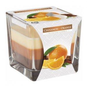 Bispol Tricolor Cinnamon-Orange vonná sviečka snk80-159