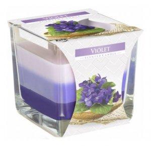 Bispol Tricolor Violet vonná sviečka snk80-131
