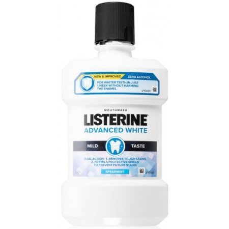 Listerine Advanced White Mild Taste ústna voda 1l