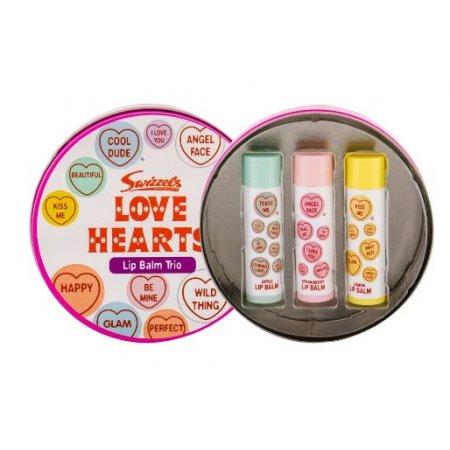 KIDS Swizzels Love Hearts balzam na pery 3x4g v darčekovej plechovej krabičke.