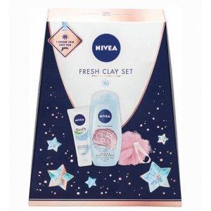 Nivea Fresh Clay dámska kazeta 3ks
