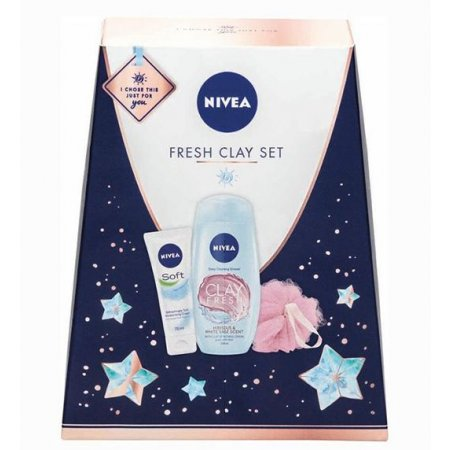 Nivea Fresh Clay dámska kazeta 3ks