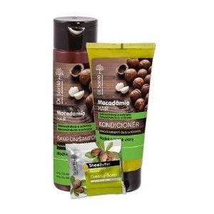 Dr.Sante 3-pack Macadamia (šampón 250ml+kondicionér 200ml+toal.mydlo 100g)