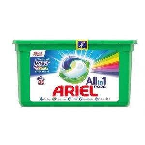 Ariel Touch of Lenor Color gélové kapsule 33ks