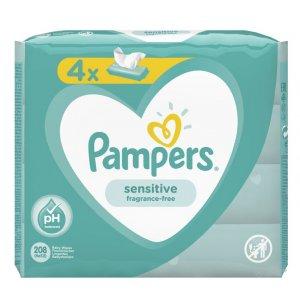 Pampers Sensitive detské vlhčené utierky 4x52ks