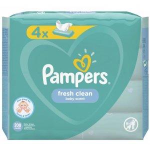 Pampers Fresh Clean detské vlhčené utierky 4x52ks