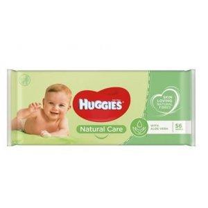Huggies Natural Care With Aloe Vera detské vlhčené utierky 56ks