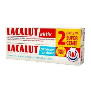 Lacalut Aktiv zubná pasta 75ml+Lacalut Protectie zubná pasta 75ml