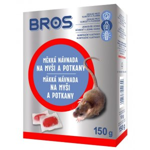 Bros mäkká návnada na myši a potkany 150g