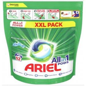 Ariel Mountain Spring gélove tablety na pranie XXL 52ks sáčok