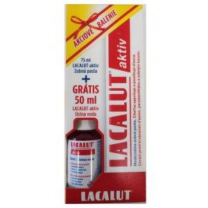 Lacalut Aktiv zubná pasta 75ml+ústna voda Lacalut 50ml