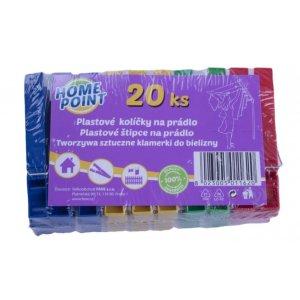 Home Point štipce na prádlo plastové 20ks