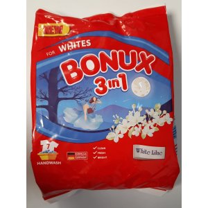 Bonux Whites 3v1 White Lilac prací prášok na ručné pranie 400g na 7 praní