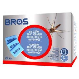 Bros vankúšiky proti komárom NN do elektrického odparovača 20ks