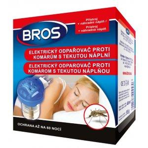 Bros elektrický odparovač proti komárom 55g +tekutá náplň 40ml