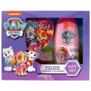 KIDS Paw Patrol detský darčekový set obsahuje sprchový gél a šampón 2v1 250ml + špongia + 2ks nálepiek