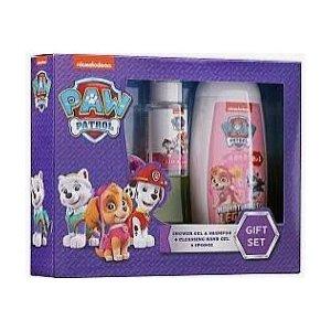 KIDS Paw Patrol detský darčekový set sprchový gél 250ml+šampón 250ml+čistiaci gél na ruky 50ml+špongia