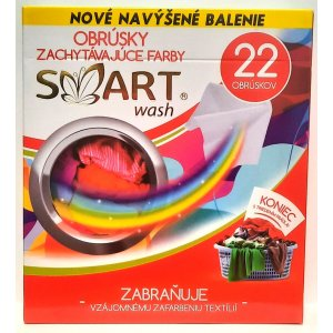 Smart pracie obrúsky na farebné prádlo 22ks