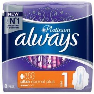 Always Platinum Ultra Normal 1 dámske vložky 8ks