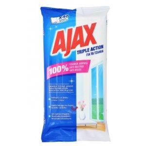 Ajax čistiace obrúsky na sklo 40ks