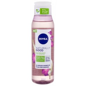 Nivea Naturally Good Wild Rose Water & Bio Argan Oil dámsky sprchový gél 300ml